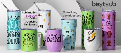 Make Everyday Iridescent with Sublimation Glitter Sparkling Tumblers!