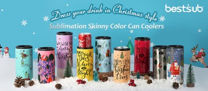 Dress Your Drink in Christmas Style with Sublimation Skinny Can Coolers!