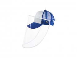 Sublimation Kids Mesh Cap w/ Removable Face Shield (Blue)