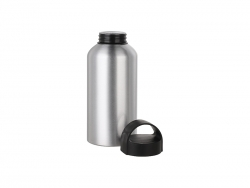 500ml Aluminium Water Bottle W/handle (Silver)