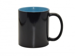 11oz Black Magic Mug (Inner Light blue)