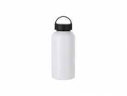 500ml Aluminium Water Bottle W/handle (White)