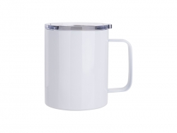 10oz/300ml Stainless Steel Coffee Cup (White)