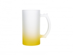 16oz Sublimation Glass Beer Mug Gradient Yellow