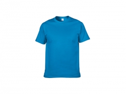 Cotton T-Shirt-Medium blue