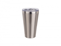 15oz/450ml Stainless Steel Tumbler w/ Slide Lid (Silver)