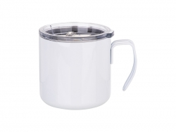 12oz/350ml Stainless Steel Coffee Cup (White) MOQ: 2000pcs