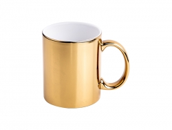 11oz Gold Plated Ceramic Mug