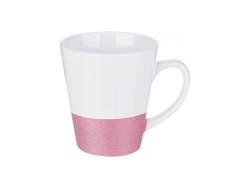 12oz Bottom Glitter Mug (Pink)