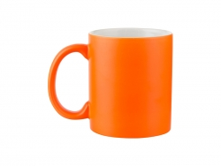 11oz Fluorescent Mug(Frosted, Reddish Orange)