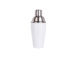550ml Stainless Steel Cocktail Shaker (White)