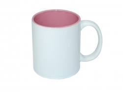 11oz Two-Tone Color Mugs - Pink