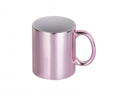 11oz Pink Plated Ceramic Mug