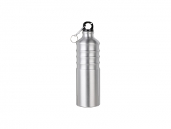 750ml Aluminum Water Bottle (Silver)