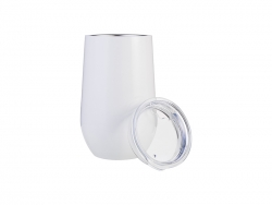 17oz/500ml Stainless Steel Stemless Wine Cup (White)