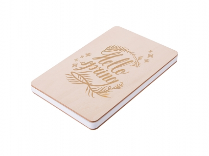 A5 Plywood Cover Notebook(14.1*21cm) MOQ: 500pcs