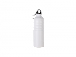 750ml Aluminum Water Bottle (White)