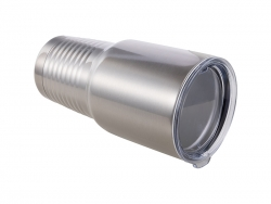 30oz Stainless Steel Tumbler with Ringneck Grip (Silver)
