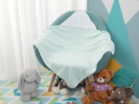 Sublimation Baby Hooded Towel (80*80, Light Blue)