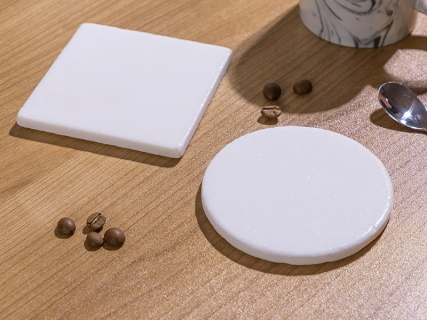 "Sublimation Marble Coaster with Cork (Round, 4"")"