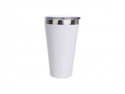 15oz/450ml Stainless Steel Tumbler w/ Slide Lid (White)