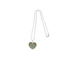Heart-Shaped Shell Necklace (25*30mm)