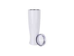 25oz/750ml Vase Shaped Pilsner Style Beer Tumbler (White)