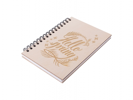 A5 Wiro Plywood Cover Notebook(14.1*21cm) MOQ: 500pcs