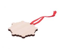 Plywood Christmas Ornament (Snowflake)
