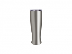 25oz/750ml Vase Shaped Pilsner Style Beer Tumbler (Silver)