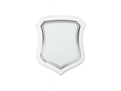 White Plaque w/ Glass